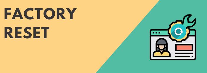 factory reset sky q box