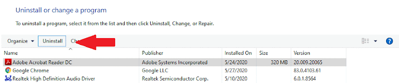 uninstall software