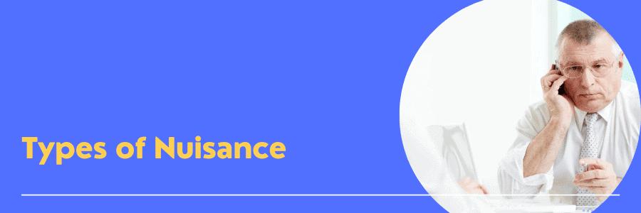 types of nuisance calls on landline