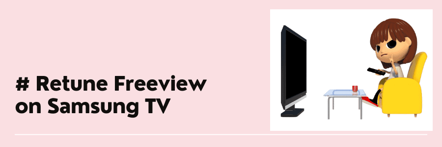 how to retune freeview on samsung tv