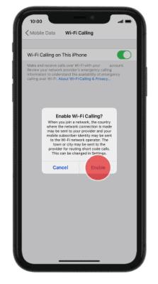 enable wifi iphone 2