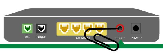 centurylink router reset