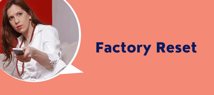 firestick factory reset