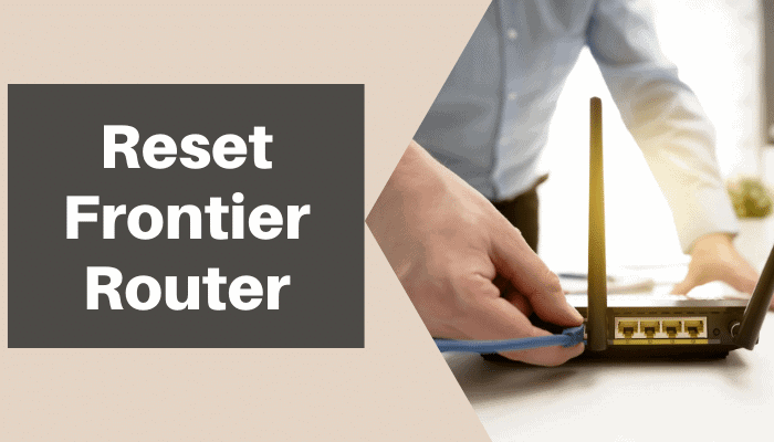 how to reset frontier router