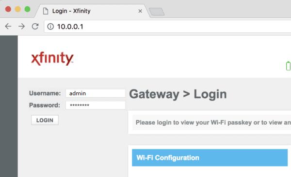 xfinity step 1