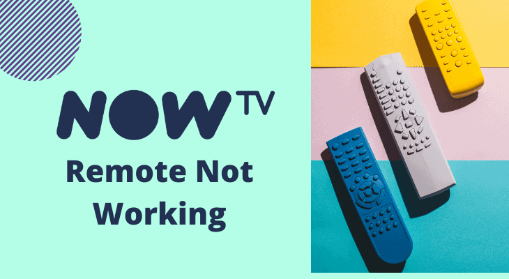now tv remote not working