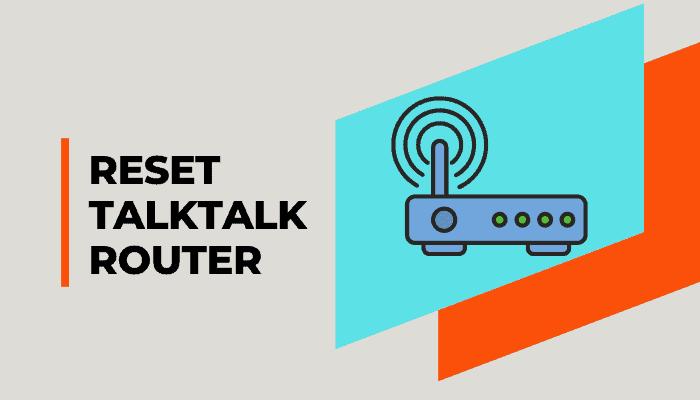 how to reset talktalk router