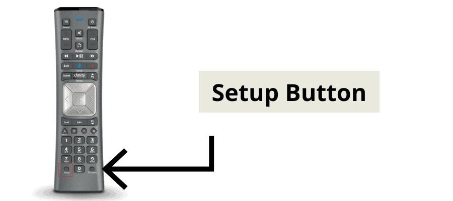 xfinity setup button