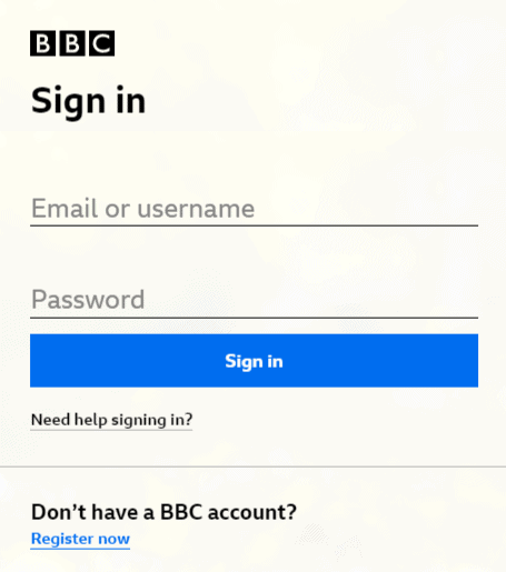 bbc iplayer login
