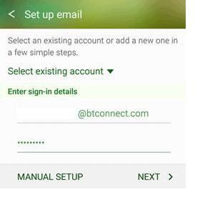 manual settings