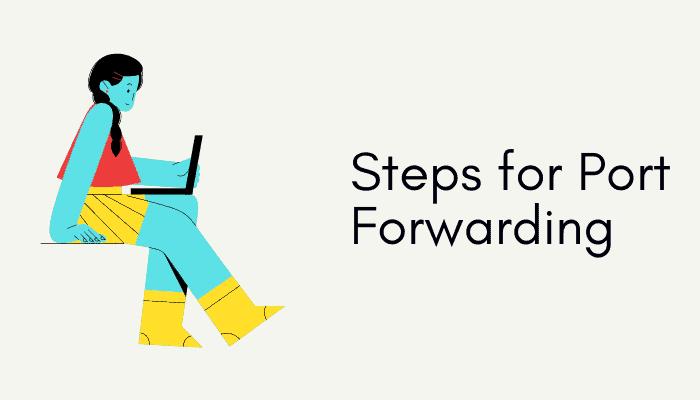 step for port forwarding sky router