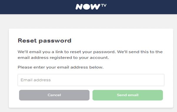 resetting now tv password