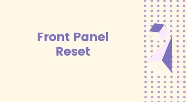reset front panel sky box