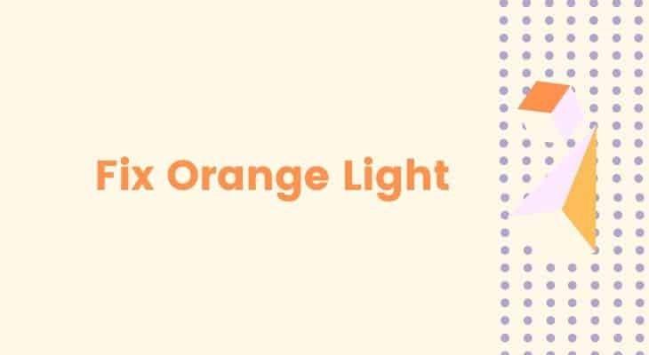 fix bt hub flashing orange light