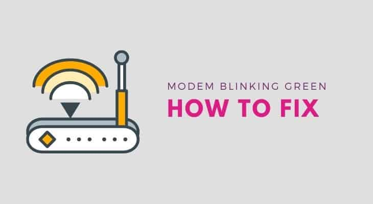 how to fix comcast modem blinking green