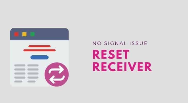 reset directv receiver