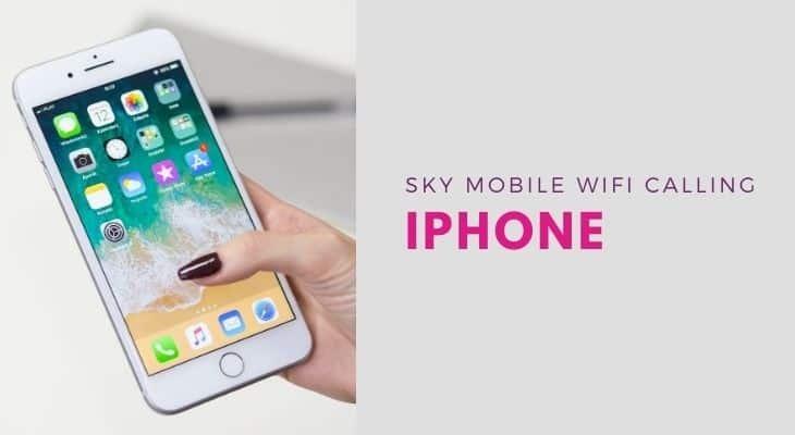 sky mobile wifi calling iphone