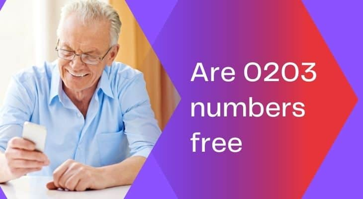 are 0203 numbers free