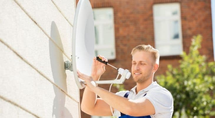 how to align directv dish without meter