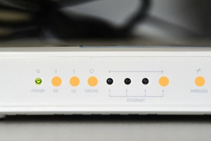 blinking orange ds light on arris modem