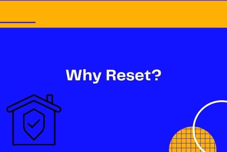 why reset xfinity home security touch screen