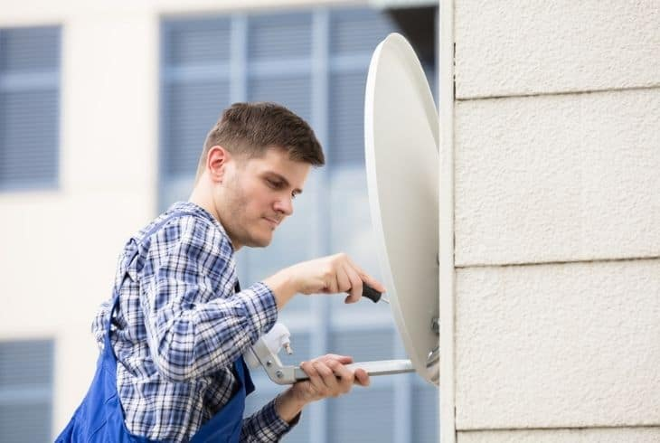 how to install bell satellite dish 91 and 82